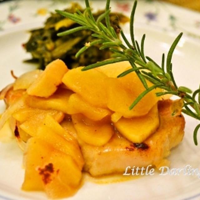 【りんごのポークチョップ】 オーブンでロースト 甘酸っぱいおいしさ!