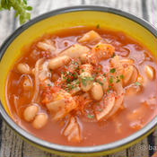 キャベツと大豆のトマトスープ
