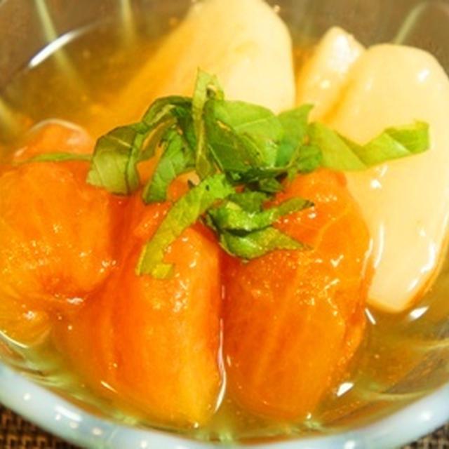 トマトと蕪の大葉餡、魚の王者・金目の煮付けに心も蕩けた……手酌酒ナイト……