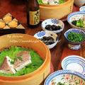 ◆白だしでアスパラガスのサッと煮と鯛の蒸篭蒸し~ゆるやか糖質制限中♪