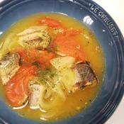 サバとトマトのスープ