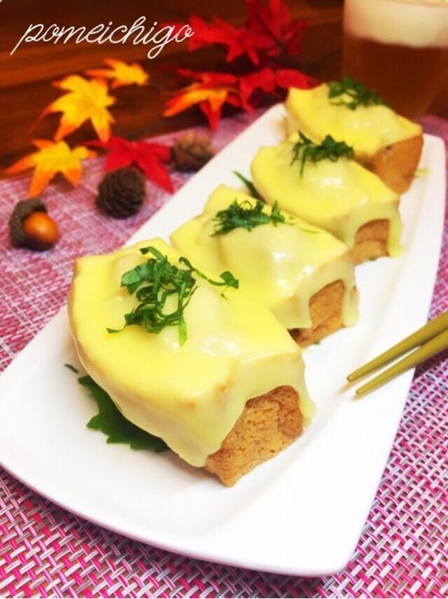 4. 大葉でさっぱり♩ツナで作る和風の厚揚げチーズ