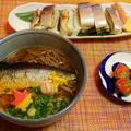 平成最後の年越し蕎麦☆手作り鯖棒寿司♪☆♪☆♪