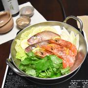 鯛とエビの柚子塩鍋。市販の鍋スープを買わなくても簡単おいしい鍋料理。