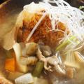■創味シャンタンで絶品!! 【青森の郷土料理・「粥の汁(けのしる)」と  焼きおにぎりのコラボが最高です^^】