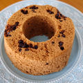 レンジで簡単チョコチップ入り♪ホットケーキミックス(HM)のココアシフォンケーキ