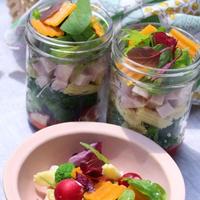 いろいろお野菜とミモレットのジャーサラダ