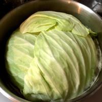 もっさりキャベツの鍋蓋でとんこつ醤油鍋@トップバリュ鍋用つゆ