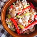 豚バラスライスとセロリの柚子胡椒マヨ炒め*最近の検索ワード