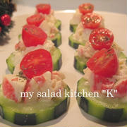 簡単☆キュウリとカニカマのオシャレ前菜サラダ