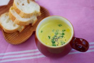 酪農見学♡おいしい牛乳で♪冷製もオススメ、ミキサー要らずのかぼちゃスープ