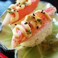 本格?!かにかまにぎり寿司