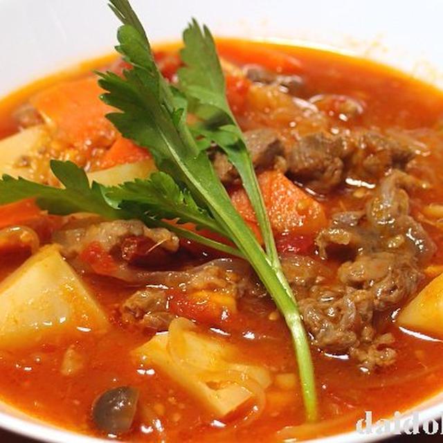 牛すじ肉のトマト煮 | 熊本トマトを使ったあったかレシピ