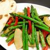 春と夏の野菜の花椒炒め