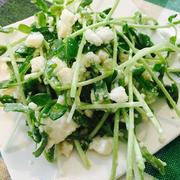 豆苗と水菜・豆腐和えサラダ