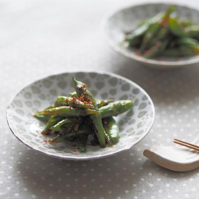 【レシピ】おつまみにも常備菜にも♡5分で作れるいんげんの海苔炒めと献立