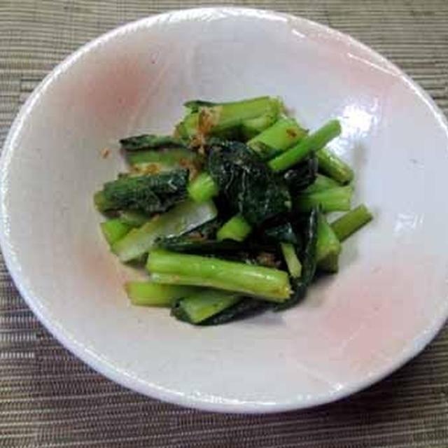 レンジで簡単!野沢菜漬け風?小松菜のおひたし