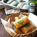 余ったお餅で、明太餅チーズ春巻。