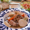 塩漬け豚の根菜ポトフ