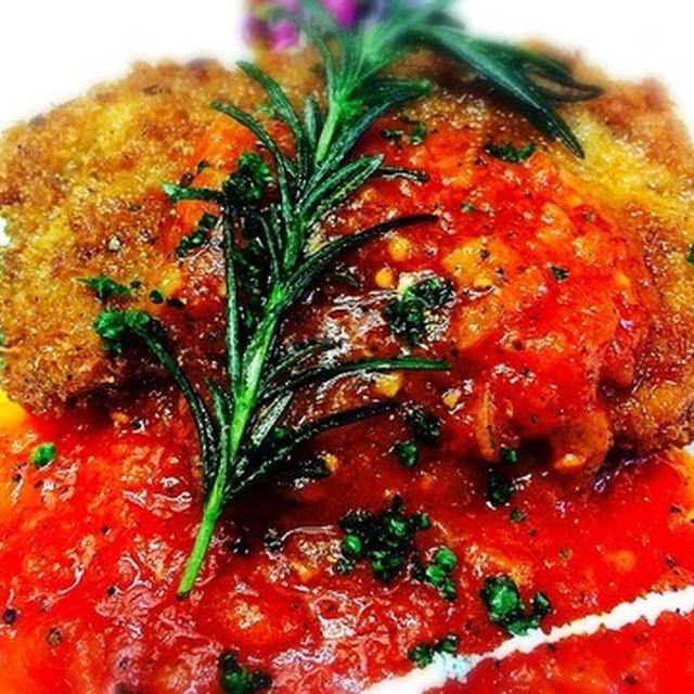#24 カツレツ バジルとトマトソースで