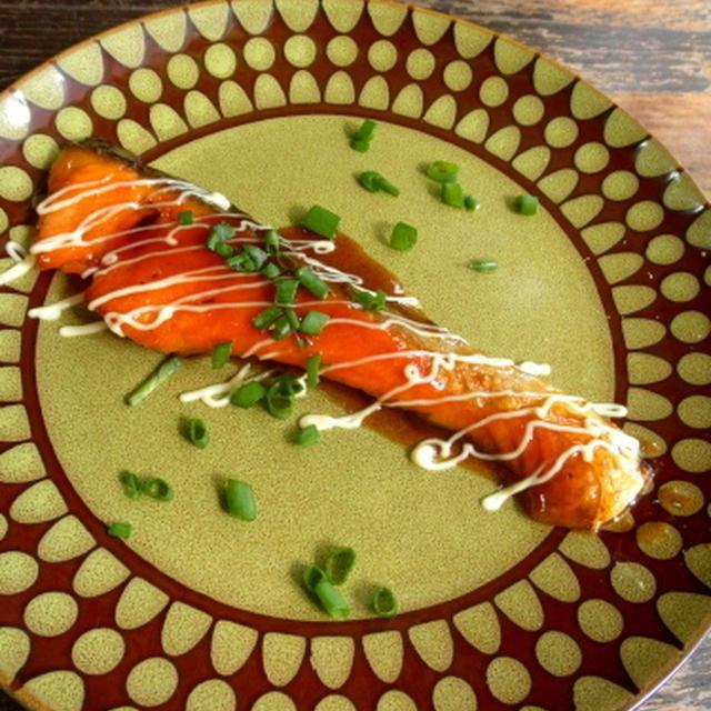 【簡単!!カフェごはん】鮭の照り焼きマヨネーズ