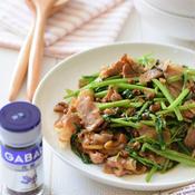 豚バラ肉と空心菜の花椒風味オイスターソース炒め