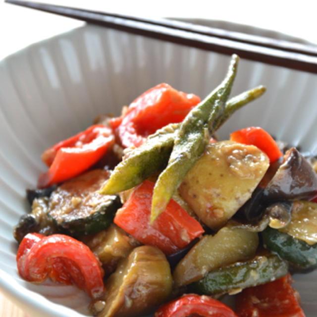 #451 夏野菜の梅味噌炒め