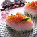 ひな祭りに♪ ひし餅風3色ちらし寿司 by カシュカシュさん