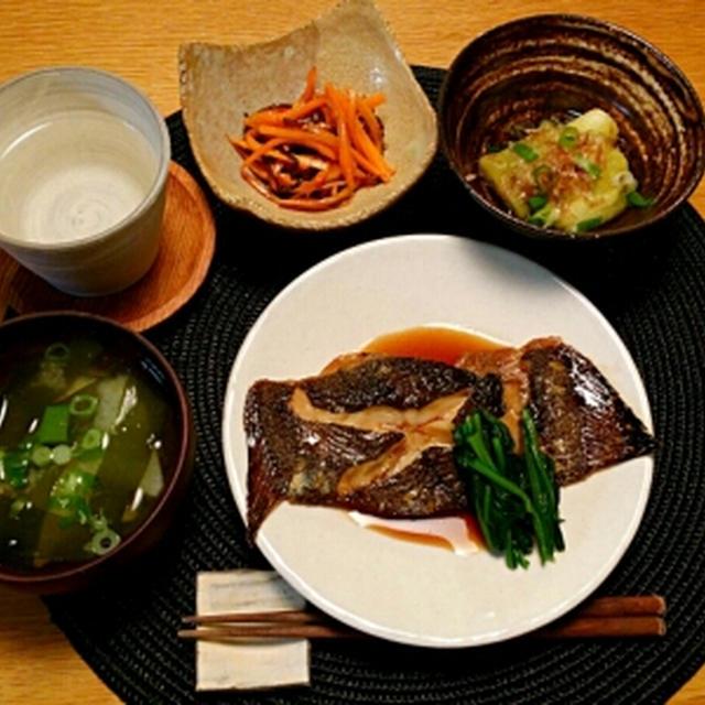 和食晩ごはん☆かれいの煮付け