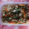 鮭と野菜の炒り豆腐