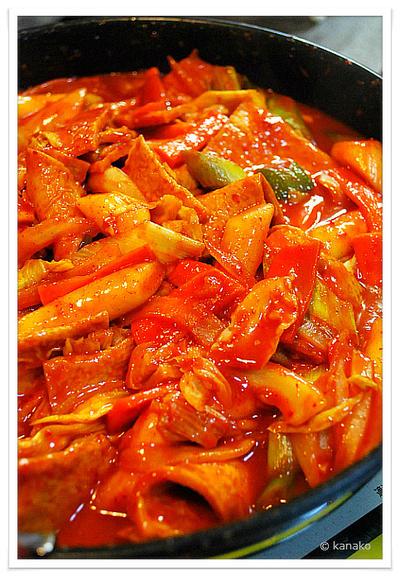 ✽野菜たっぷりのトッポッキ✽