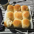 ベーコン&チーズ入り、ちぎりパン @生クリーム入り生地