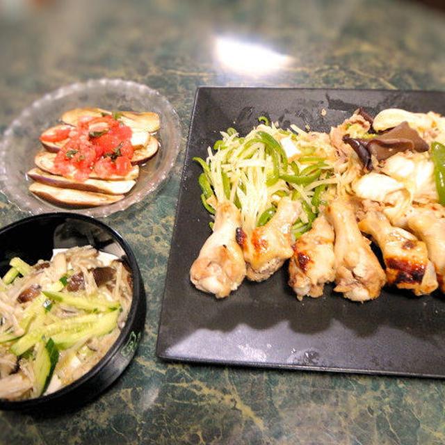 7月20日の献立は☆お野菜をたっぷり使った中華の献立☆全5品☆今日はフライパンも使ったヨン☆