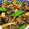 砂肝と茸のガーリックポン酢炒め
