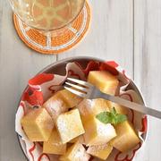 スライスチーズを使って♪レンジ加熱3分でOK!チーズ蒸しケーキ