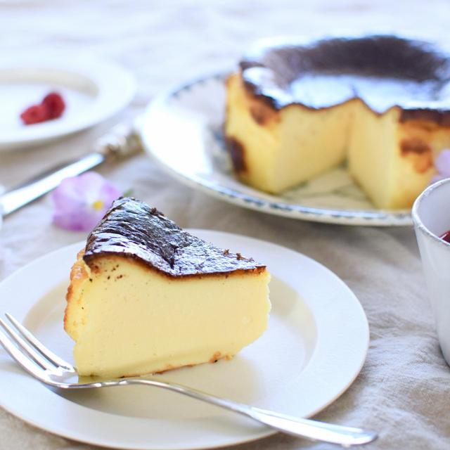 バスク風チーズケーキ作りました&ラズベリーソースのレシピ