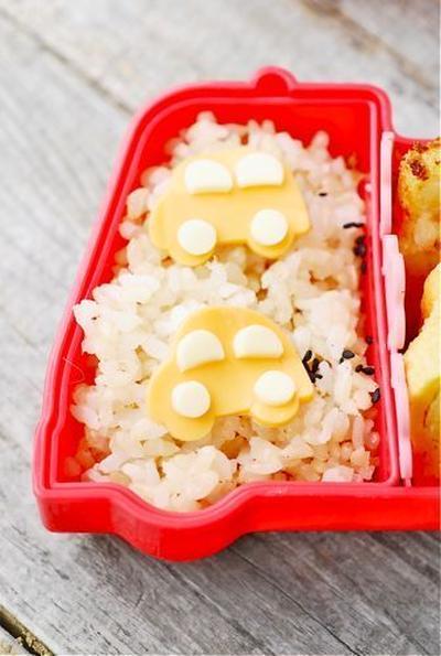簡単車弁当 かつお節醤油の卵焼き