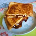 生チョコ&チェダーチーズのホットサンド