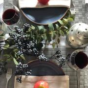 ローストポークとキャベツのチーズ焼きと秋のテーブルコーディネート