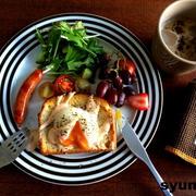 エッグベネディクト風温泉卵のせトーストで朝ごはんと、ランドセルにまつわる他愛無い話