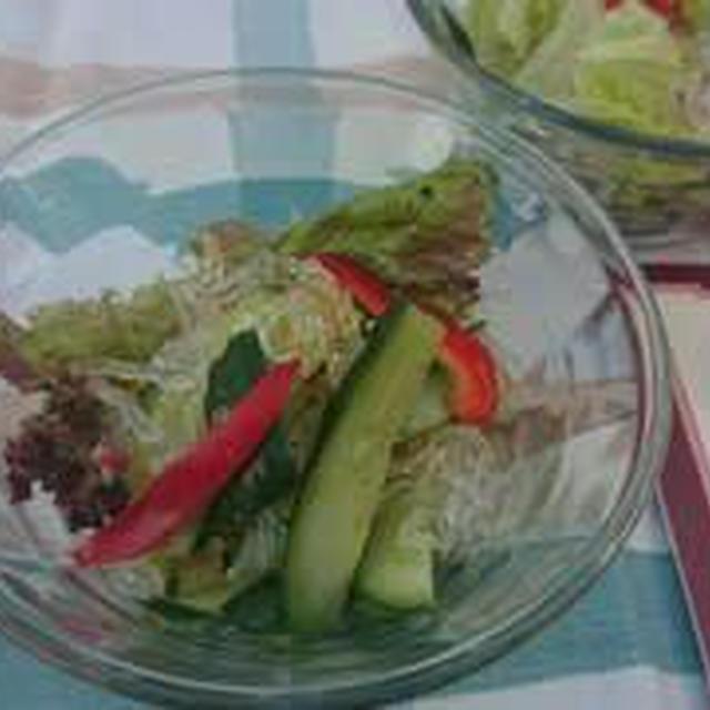 サニーレタスと海藻の中華サラダ
