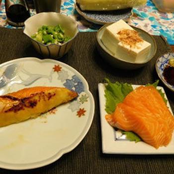 先週の晩ご飯 ちりめん山椒や杏ジャム