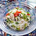 ささみとしらたきのマスタードサラダ【レンジで簡単ダイエットメニュー】 レシピ・作り方
