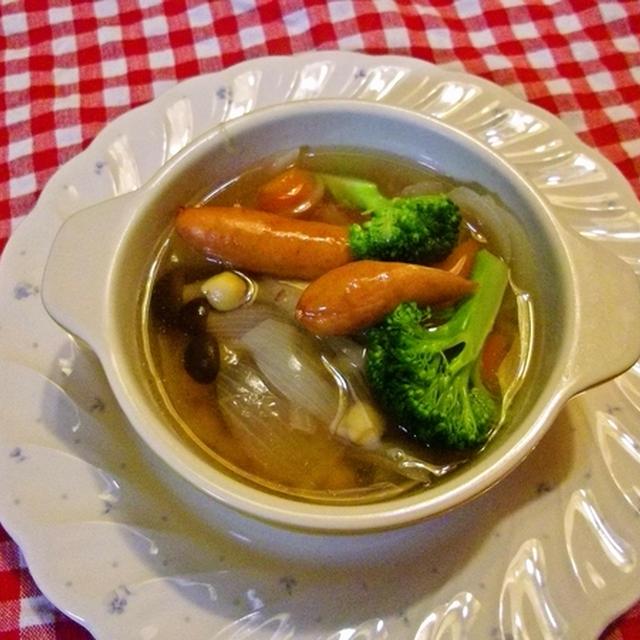野菜たくさんのスープ