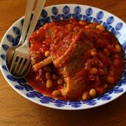 スペアリブと豆のトマト煮
