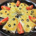 イワシの香草パン粉焼き<ベークドトマトをソース代わりに>