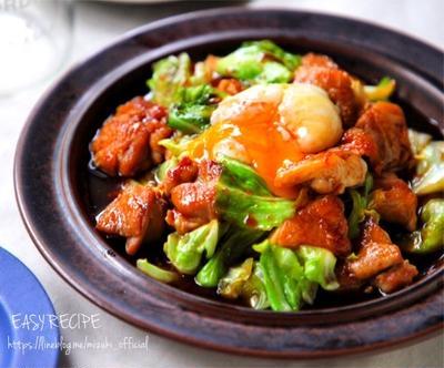 ♡ごはんがすすむ♡鶏肉とキャベツのにんにく醤油炒め♡【#簡単#時短#節約】