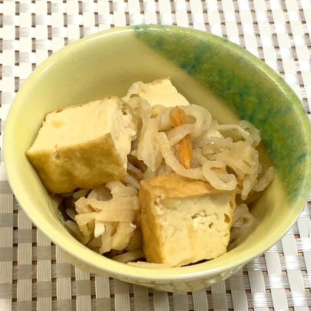 乾物を見直そう♪切り干し大根と厚揚げの煮物(レシピ)