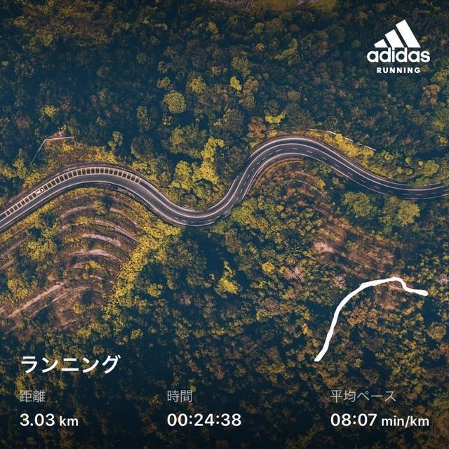 久々のジョギング