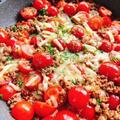 ミニトマトと挽肉のチーズ炒め(動画レシピ)/Cherry tomatoes and ground meat grilled with cheese.